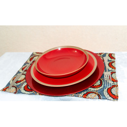 "set de table coton africain ethnique wax ""RONVI"""